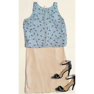 🆕 Gap | Tan Stretch Pencil Skirt